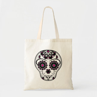Girly day of the dead sugar skull tote bag