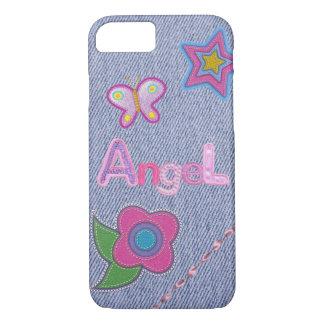 Girly Denim Charm iPhone 7 Phone Case