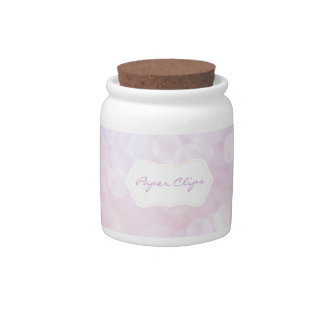 Girly Desk accessory: Pink Paperclip Jar Candy Dishes