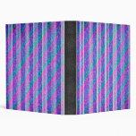 Girly Diagonal Stripes Binder