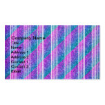 Girly Diagonal Stripes Business Card Template