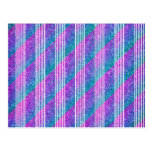 Girly Diagonal Stripes Post Cards