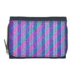 Girly Diagonal Stripes Wallets