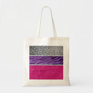 Girly Diamond Animal Print Budget Tote Bag