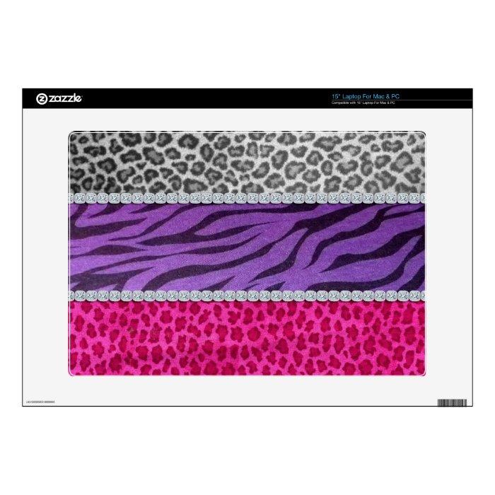 Girly Diamond Animal Print Skin For Laptop