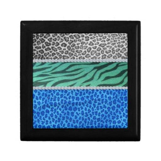 Girly Diamond Animal Print Trinket Box