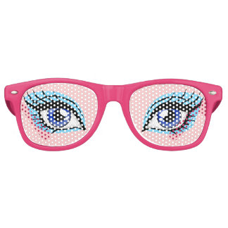 Girly Doll Eye Women's Funny Party Costume Glasses