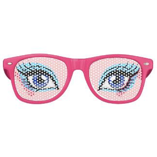 Girly Doll Eye Women's Funny Party Costume Glasses Retro Sunglasses