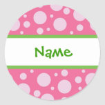 Girly Dots Personalized Sticker