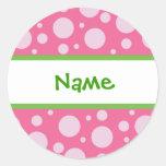 Girly Dots Personalized Sticker