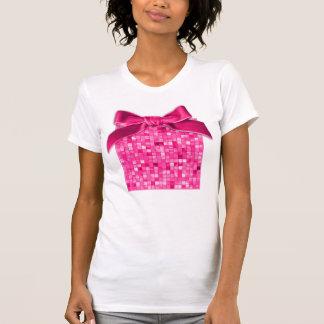 Girly Duo-tone Fuchsia Geometric Decorative Tile T-shirt