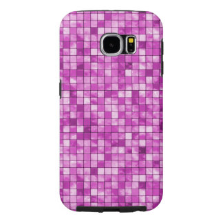 Girly Duo-tone Orchid Geometric Decorative Tile Samsung Galaxy S6 Case