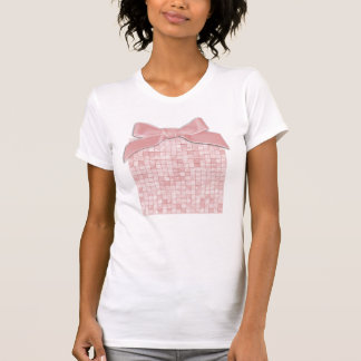 Girly Duo-tone Pink Geometric Decorative Tile T-shirt