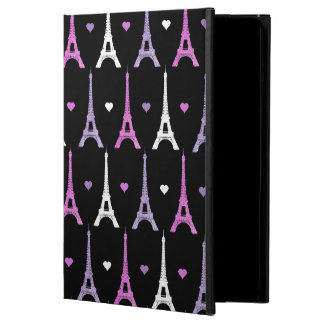 Girly Eiffel Tower pattern in black iPad Air Case