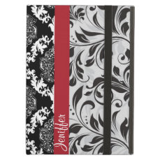 Girly Elegant Black And White Floral Damasks iPad Air Case