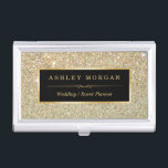 """Girly Elegant Gold Glitter Sparkles Pattern Case For Business Cards<br><div class=""""desc"""">================= ABOUT THIS DESIGN ================= Girly Elegant Gold Glitter Sparkles Pattern Business Card Holder. (1) All text style, colors, sizes can be modified to fit your needs. (2) If you need any customization or matching items, please contact me. (3) You can find matching products (e.g. Business Card, Appointment Card, Flyer,...</div>"""