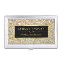 Girly Elegant Gold Glitter Sparkles Pattern Case For Business Cards