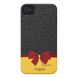 Girly Elegant Modern Damask iPhone 4 Case