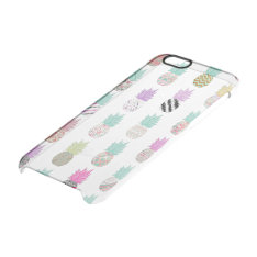 Girly Exotic Pineapple Aztec Floral Pattern Clear Iphone 6/6s Case at Zazzle