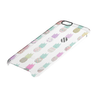 Girly Exotic Pineapple Aztec Floral Pattern Clear iPhone 6/6S Case