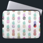 """Girly Exotic Pineapple Aztec Floral Pattern Computer Sleeve<br><div class=""""desc"""">Girly Exotic Pineapple Aztec Floral Pattern. A cool and modern girly floral pattern design with whimsical, tropical and exotic pineapples fruits with pink, blue, red, yellow, teal blue, black, purple, gray, white, turquoise, navy blue pastel colors, lots of different floral colorful retro design with roses, and other beautiful preppy chic...</div>"""