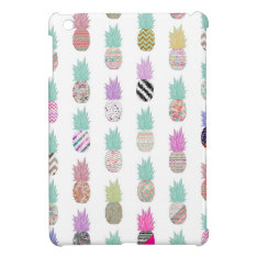 Girly Exotic Pineapple Aztec Floral Pattern Ipad Mini Cases at Zazzle