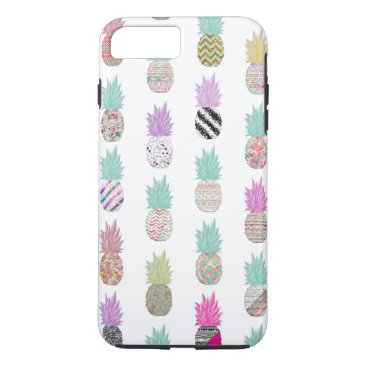 Aztec Themed Girly Exotic Pineapple Aztec Floral Pattern iPhone 7 Plus Case