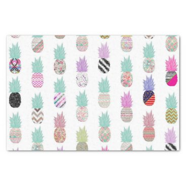 Aztec Themed Girly Exotic Pineapple Aztec Floral Pattern Tissue Paper