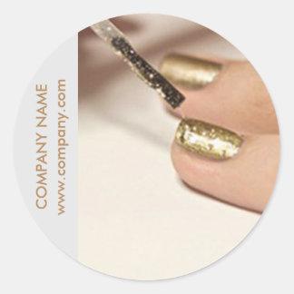 girly fashion beauty nail artist nail salon classic round sticker
