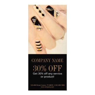 girly fashion beauty nail artist nail salon rack card