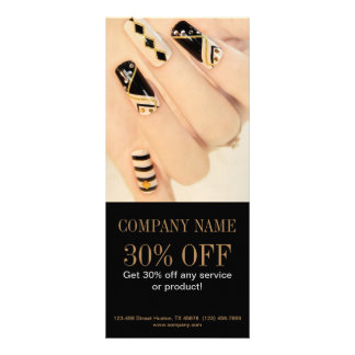 girly fashion beauty nail artist nail salon personalized rack card