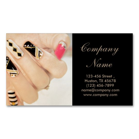 Girly Fashion Beauty Spa Nail Artist Nail Salon Business Card Magnet
