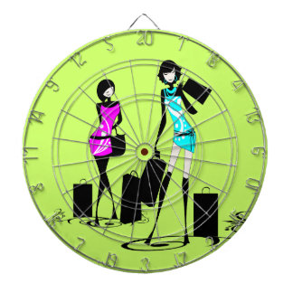 Girly fashion chic french games dart board