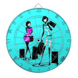 Girly fashion chic french games dartboard with darts