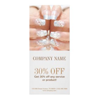 girly fashion grey beauty nail artist nail salon rack card