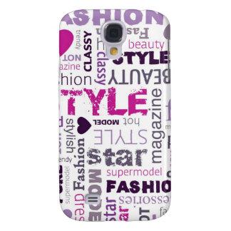 Girly Fashion Love Purple Pink Galaxy S4 Case