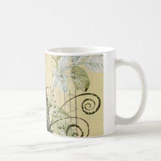 girly fashion paris eiffel tower vintage classic white coffee mug