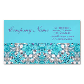 Embroidery business cards templates zazzle for Salon turquoise