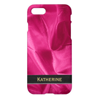 : Girly Faux Fuchsia Lame' Metallic iPhone 8/7 Case