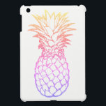 "Girly Faux Glitter Pineapple White iPad Mini Case<br><div class=""desc"">This stylish Case Savvy iPad Mini Glossy Finish Case features a tropical &amp; colorful faux glitter pineapple (in gradient shades of yellow, coral, pink, purple, and blue) on a white background. Shield your iPad Mini from daily damage with this fully customizable iPad Mini case. Made of lightweight hard shell plastic,...</div>"