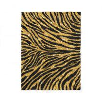Girly Faux Gold Glitter Black Zebra Pattern Cute Fleece Blanket