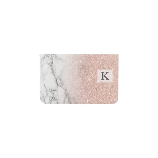 Girly faux rose pink glitter ombre white marble business card holder girly faux rose pink glitter ombre white marble business card holder colourmoves