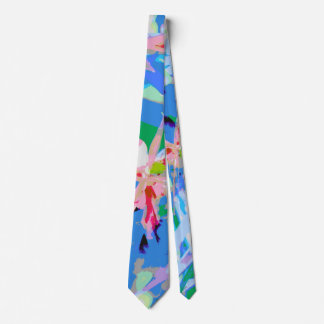 Girly feminine abstract floral pattern tie