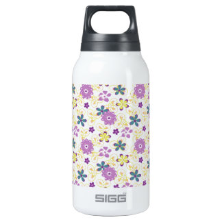 Girly Feminine Flower Pattern Thermos Water Bottle