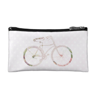 Girly Floral Bicycle Makeup Bags