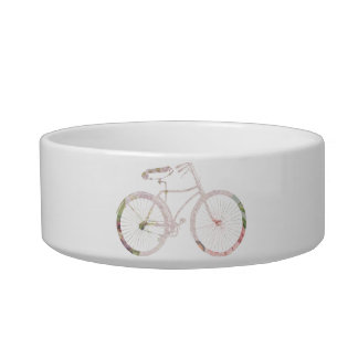 Girly Floral Bicycle Bowl