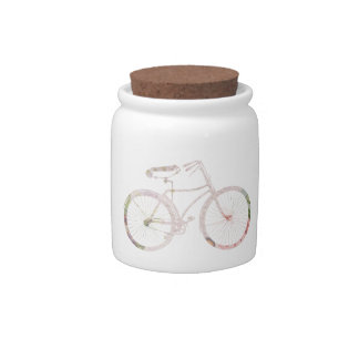 Girly Floral Bicycle Candy Dish