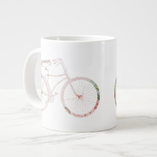 Girly Floral Bicycle Giant Coffee Mug