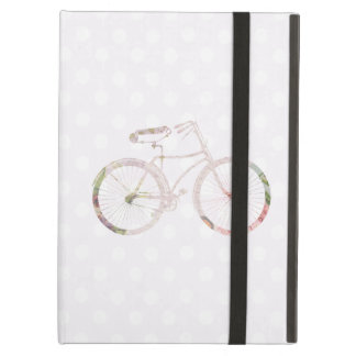 Girly Floral Bicycle iPad Covers