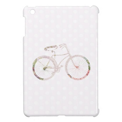 Girly Floral Bicycle iPad Mini Cover